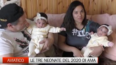 Aviatico, le tre neonate del 2020 della frazione Ama