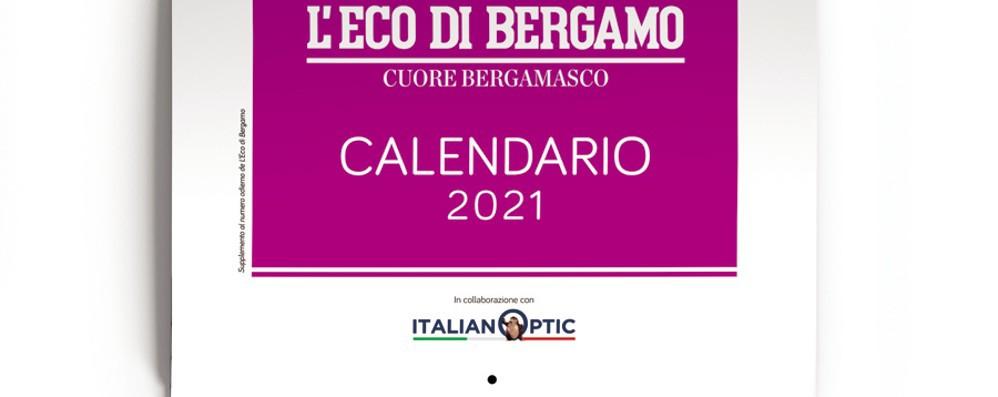Il calendario 2021 de «L'Eco»  Gratis con il giornale