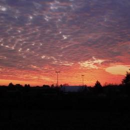 «Onda di nuvole al tramonto...»