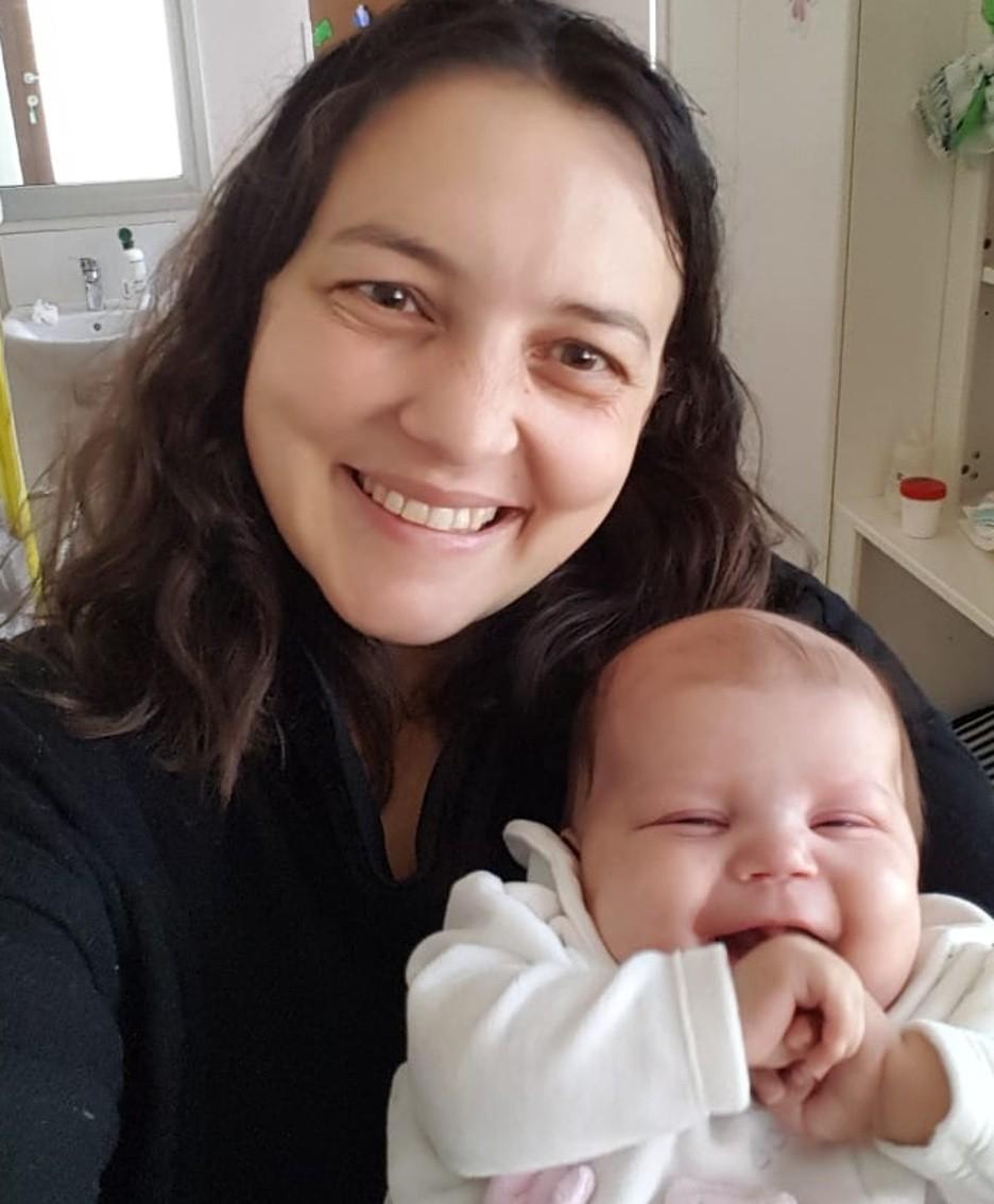 La mamma Silvia con Anna