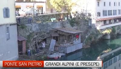 Ponte San Pietro, torna il presepio sul fiume Brembo