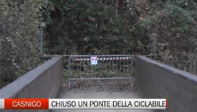 Casnigo-Vertova, chiuso un altro ponte della pista ciclopedonale