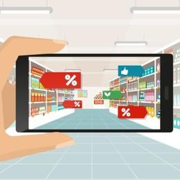 Fare la spesa piace di più  senza casse  e  con gli scaffali digitali