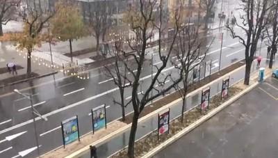 Bergamo, la neve è arrivata anche in città