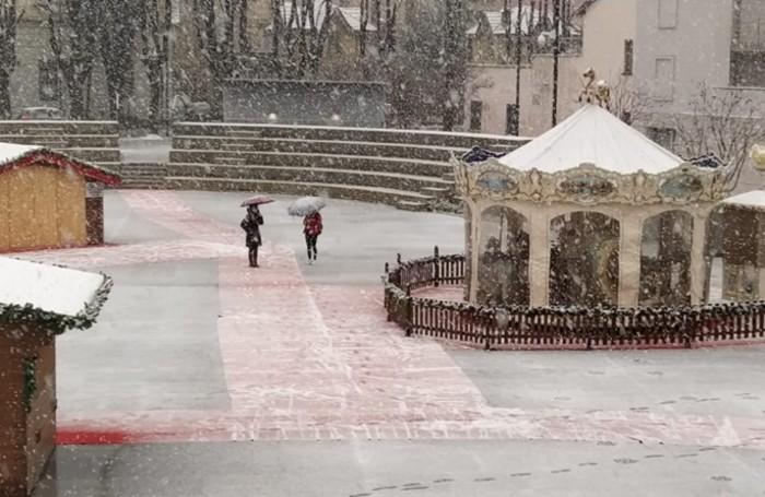 Nevica anche a Treviglio