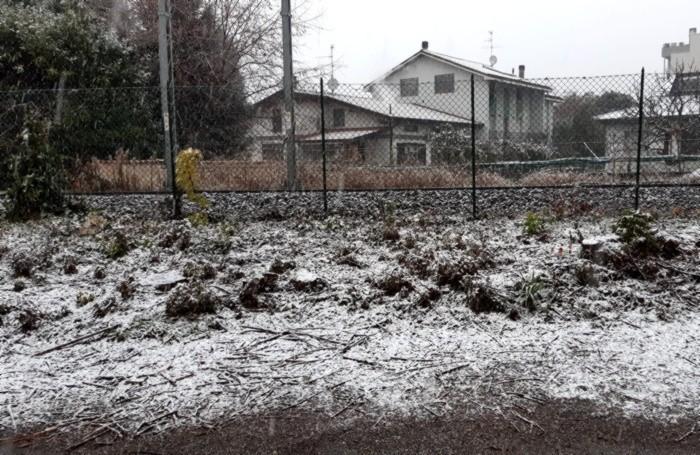 Neve in via Finazzi a Bergamo