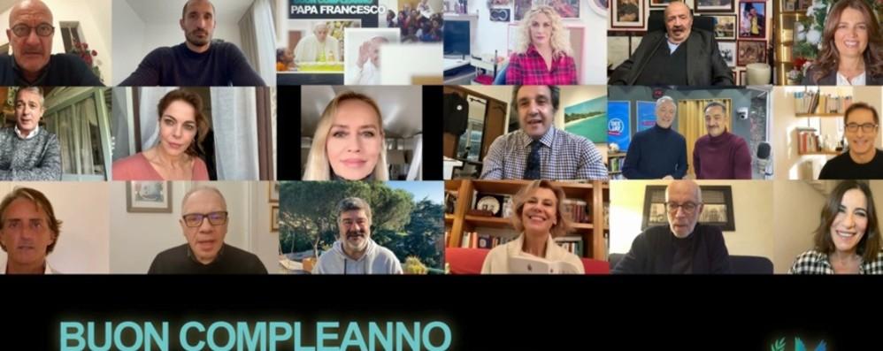 Auguri speciali per Papa Francesco Per i suoi 84 anni un video di Telepace