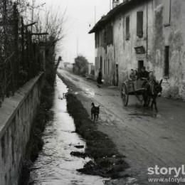 Boccaleone, la roggia e il carretto Un angolo di città (quasi) sparito
