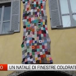 Gandino, un Natale pieno di finestre colorate