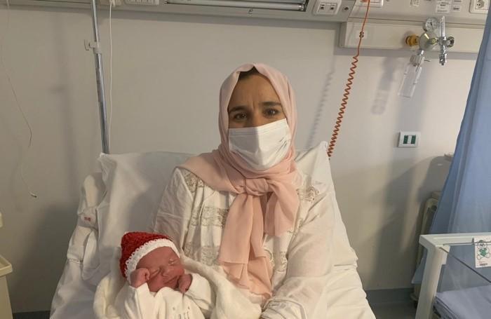 Mohamed Orfi con la mamma Fatima al Bolognini di Seriate