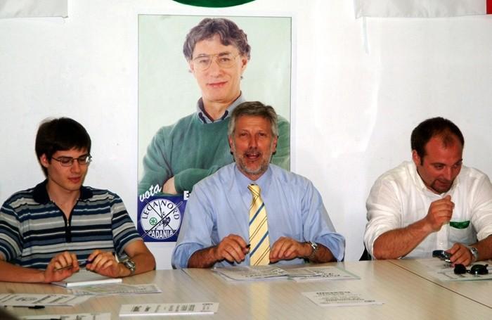 AL CENTRO, FRANCO COLLEONI, A DX, GIACOMO STUCCHI