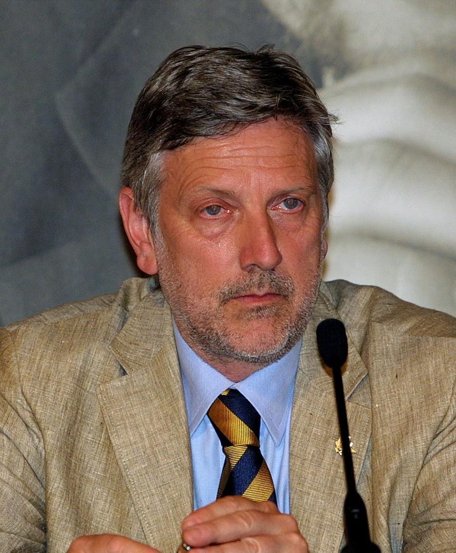 Franco Colleoni nel 2004 quando era segretario provinciale della Lega Nord