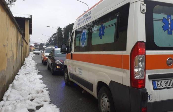 A Brembo di Dalmine sono intervenuti i mezzi di soccorso