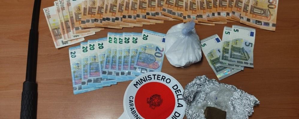 Negli slip 200 grammi di cocaina In auto un manganello e 1.600 euro