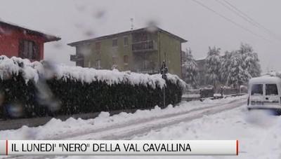 Neve in Bergamasca: il «lunedì nero» della Val Cavallina