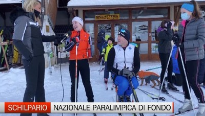 Sci di fondo, la Nazionale paralimpica a Schilpario con Tomasoni