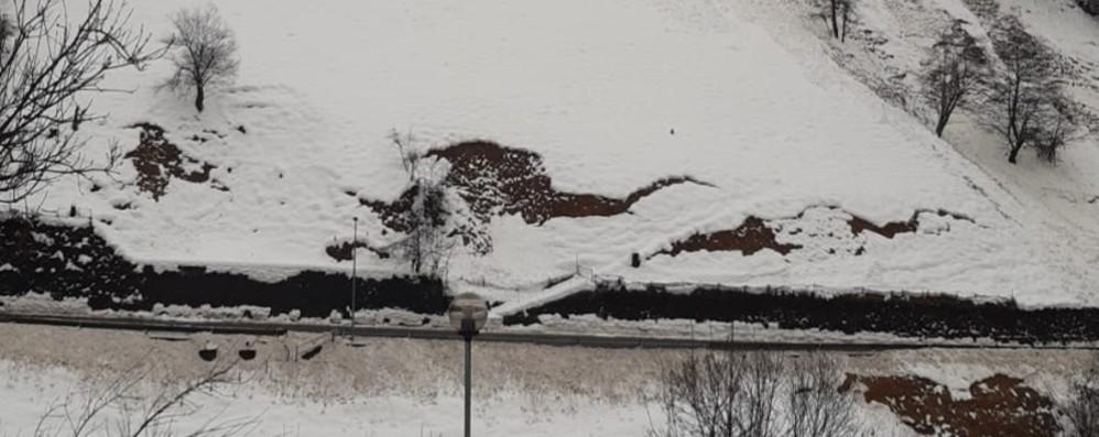 Slavine a Oneta, chiusa la provinciale Isolati 200 abitanti di Scullera e Cantoni