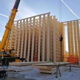 Un magazzino automatico tutto in legno In Alto Adige il progetto made in Bergamo