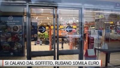 Caravaggio, furto nella notte al supermercato