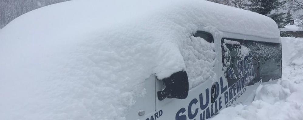 Abbondante nevicata sulle Orobie - Foto Coltre bianca a Foppolo e Valbondione