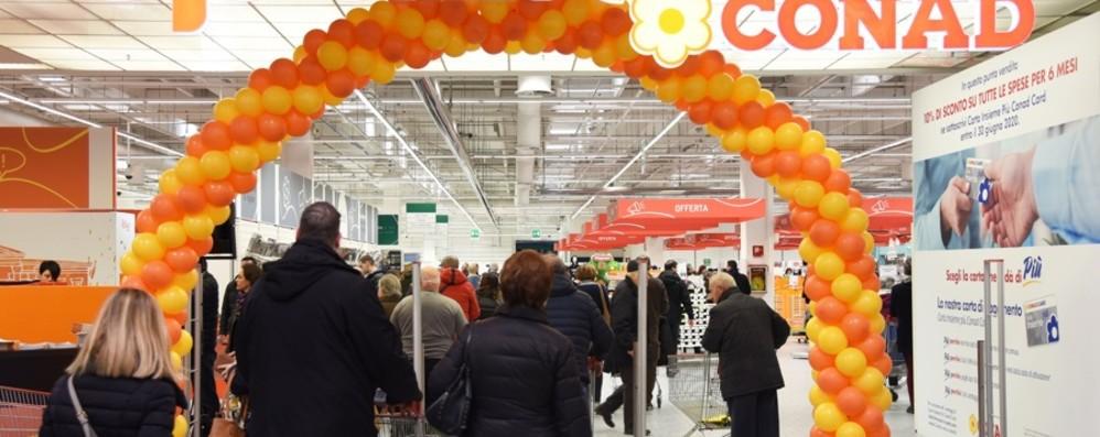 Conad riparte dall'ex Auchan di Curno Nuovi reparti, si cerca altro personale