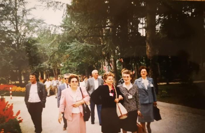 Adelina Rottoli Cassia in una foto ai tempi dell'impegno in Cisl