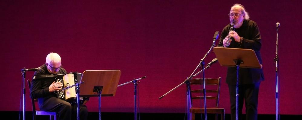 Clarinetto-fisarmonica al «Secco Suardo» Il duo Trovesi Coscia in concerto