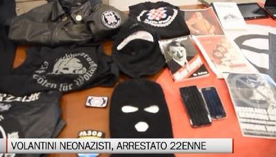 Volantini neonazisti e materiale inneggiante odio razziale. 22enne arrestato dalla Polizia