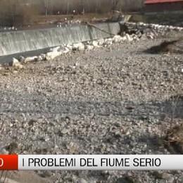 Alzano Lombardo, la difficile situazione del fiume Serio