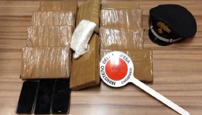 Calcio. I Carabinieri hanno sequestrato 10 chili di cocaina