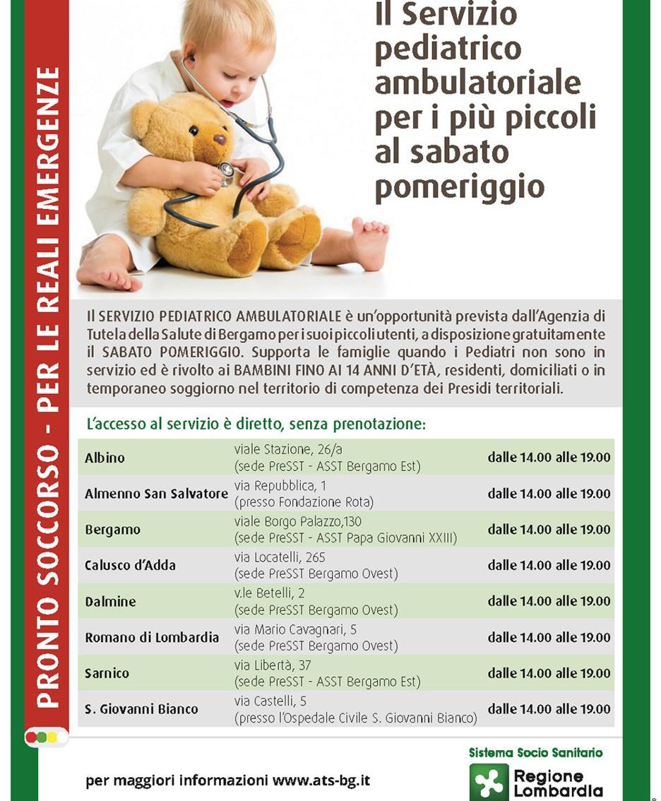 Il servizio pediatrico