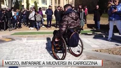Mozzo, un percorso per imparare a muoversi in carrozzina