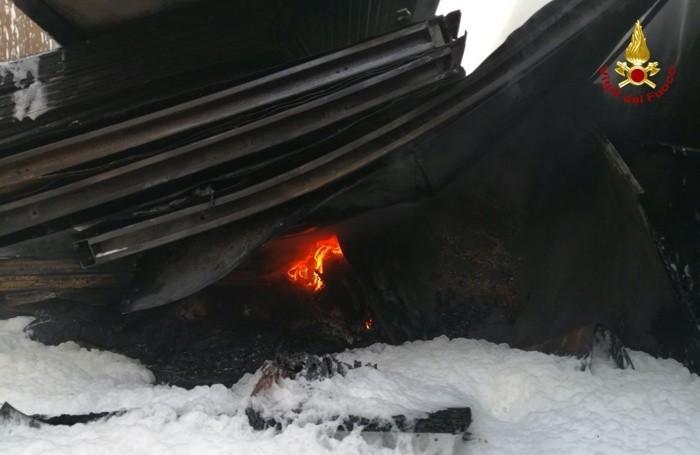 L'incendio a Barbata