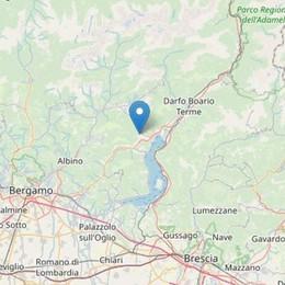 Scossa di terremoto nella zona di Sovere Magnitudo 2.5, sui Social: forte boato
