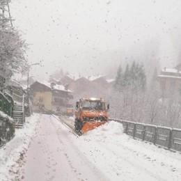Ed ecco la neve in montagna Val Seriana con già 30 centimetri