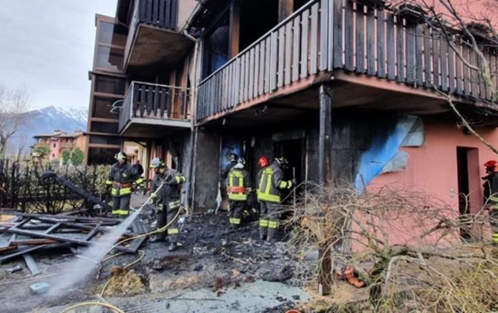 Incendio di una villetta a Cerete Domato da 2 squadre di vigili del fuoco