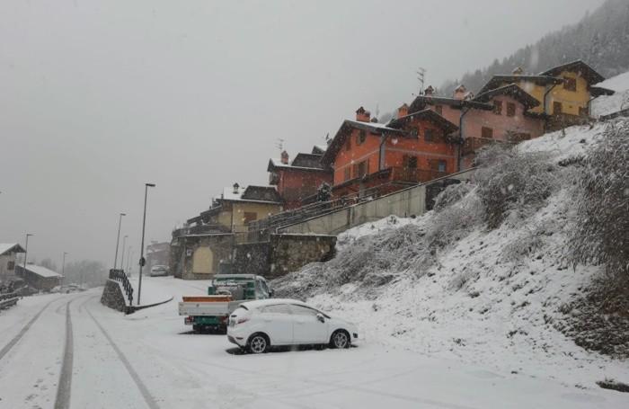 La neve ai mille metri di  Colere