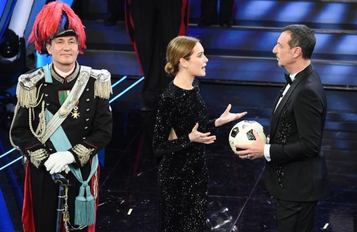 Amadeus con Cristiana Capotondi