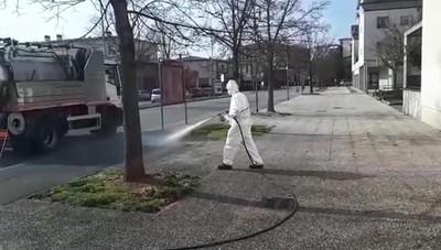 Sanificazione strade a Bergamo