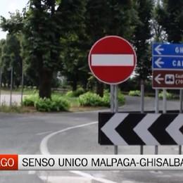 Cavernago, il senso unico tra Malpaga e Ghisalba