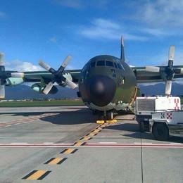 56enne covid da Bergamo in Puglia Trasferito con aereo militare, è in rianimazione