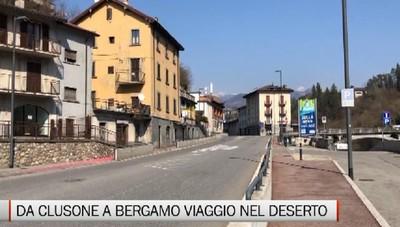 Clusone-Bergamo, in viaggio su una strada deserta