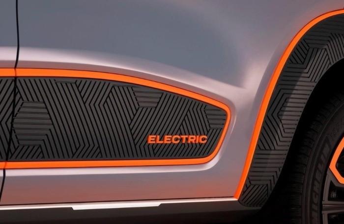 Un particolare della Dacia Spring elettrica