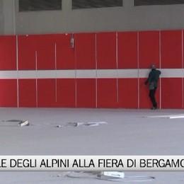 Fiera di Bergamo, il sopralluogo per l'ospedale degli alpini