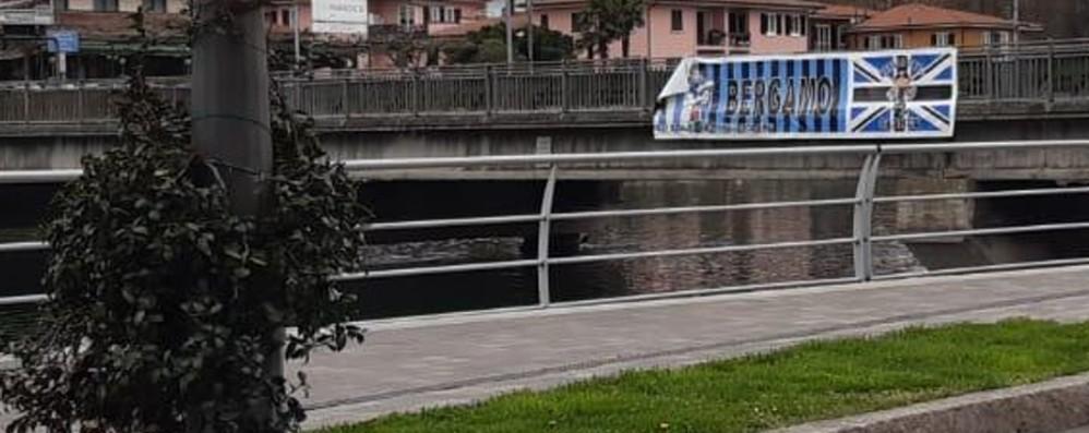 Striscione dei tifosi tagliato a Sarnico «Scoperto chi è stato, non sono i tifosi»