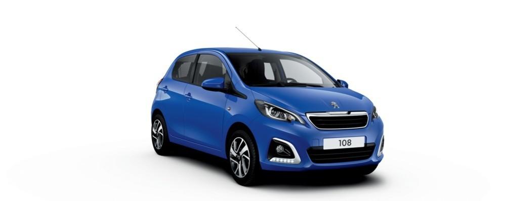 Nuova Peugeot 108 aggiorna la gamma