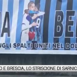 Sarnico, lo striscione che unisce nel dolore Atalanta e Brescia