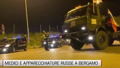 A Bergamo medici e strumentazioni dalla Russia