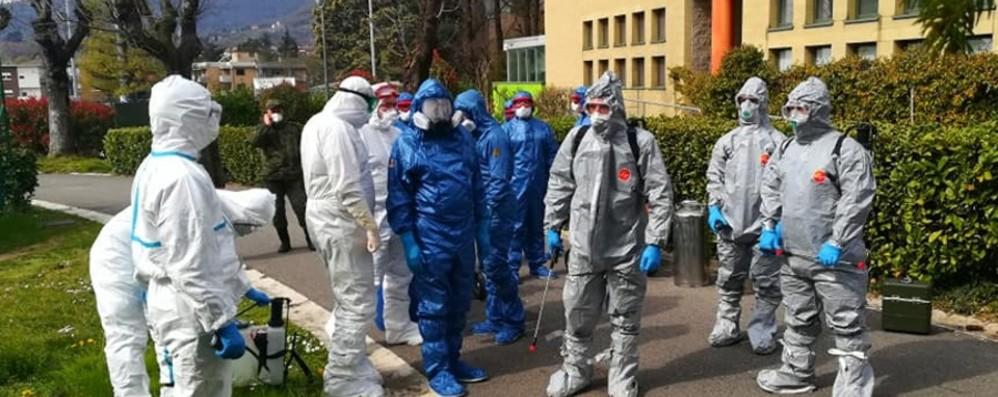 Alzano, già al lavoro la task force russa Squadre speciali sanificano la casa di riposo