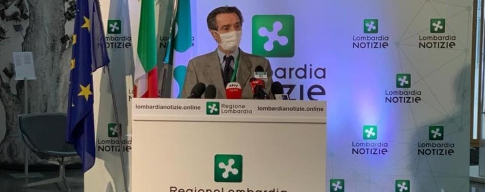 «Numeri non belli, vedremo se è caso eccezionale» Fontana, preoccupano i  2500 casi odierni